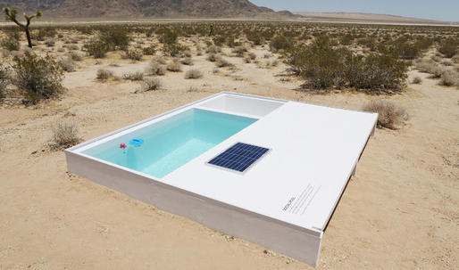 This secret swimming pool in the Mojave desert could be all yours...