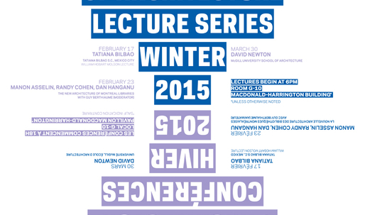 Get Lectured: McGill University, Winter '15