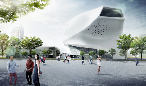 Taichung City Cultural Center Entry by Patrick Tighe Architecture
