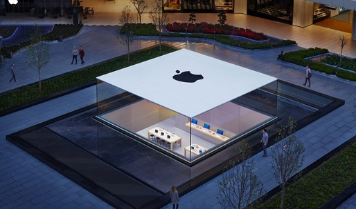 Istanbuls new ultra-minimal Apple Store showcases a seamess glass box protruding from the ground