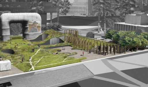 Take a look at these bold visions for Downtown LA's next park