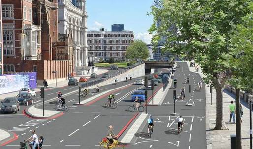 "Boris Johnson greenlights Londons ""Crossrail"" bicycle superhighway"