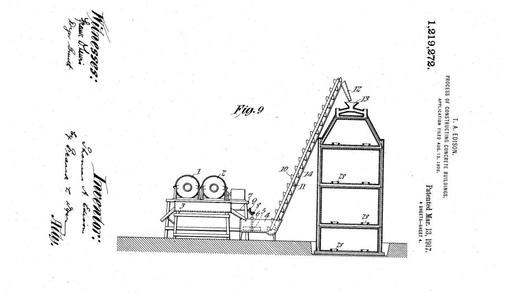 Thomas Edisons patent for the construction of all-concrete houses