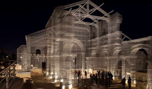 Ancient Italian church comes back to life – built in wire mesh
