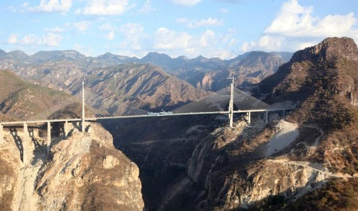 Mexico Inaugurates World's Tallest Suspension Bridge