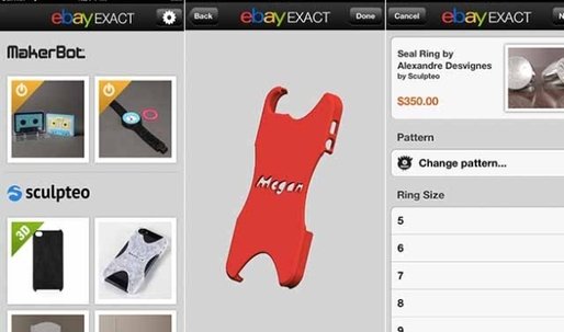 eBay releases eBay Exact, a print-on-demand marketplace for the iPhone