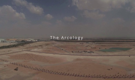 Get a drones eye view of Foster + Partners Masdar City in Abu Dhabi