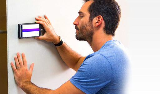 Wallabot peers 4 inches through walls to identify pipes, wires, and other hidden objects