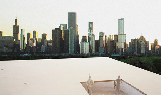 "Team Ultramoderne's ""Chicago Horizon"" wins Chicago Lakefront Kiosk competition"