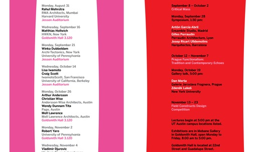 Get Lectured: University of Texas at Austin, Fall '15
