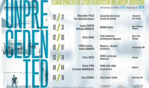 Get Lectured: Clemson School of Architecture, Spring 14