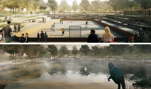 Copenhagen copes with extreme weather by building parks that turn into ponds