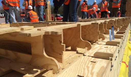 Clemson University students develop an easy-to-use, low-tech construction method