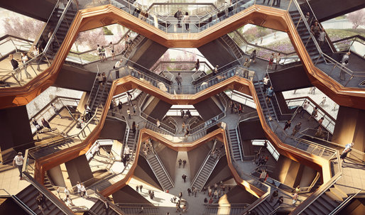 "Renderings of Thomas Heatherwick's ""Vessel"" for New York's Hudson Yard revealed"