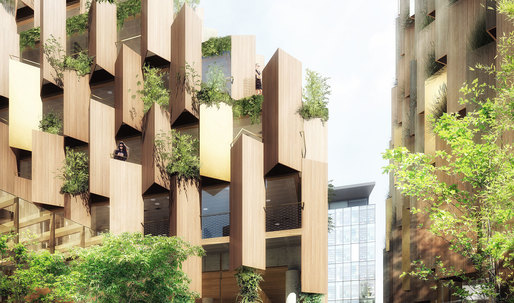 "Kengo Kuma designs an ""eco-luxury hotel"" for Paris-Rive Gauche"
