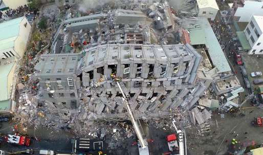 Taiwan earthquake: tin cans found as fillers may have caused high-rise to collapse