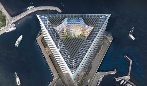"Foster + Partners begins construction of ""floating"" Copenhagen office building"