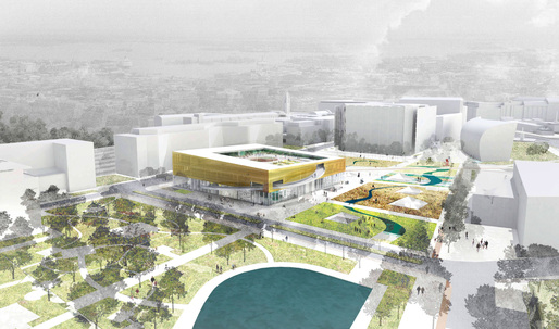 """Helsinki Central Library Competition - Honorable Mention """"Helsinki Link"""" by Kutonotuk"""