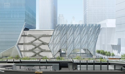 "Construction begins on Diller Scofidio + Renfro and the Rockwell Groups ""shape-shifting"" arts center in Manhattan"