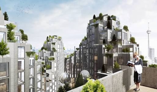"""BIG is proposing this """"pixellated""""-module housing project in Toronto"""