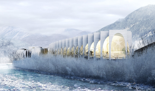 BIGs winning design for the new San Pellegrino flagship factory