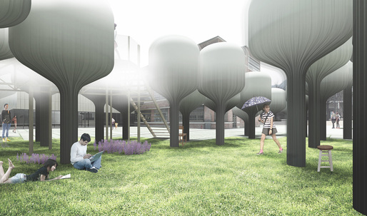 "The mythologically inspired ""Shinseon Play"" wins the first Young Architects Program Seoul"