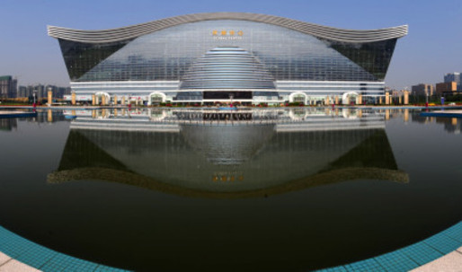 Largest building in the world opens in China – complete with indoor seaside