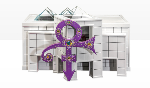 Prince's ashes interred in a scale model of Paisley Park