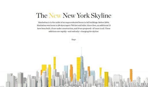 "Scroll through the ""new New York Skyline"" with this interactive infographic"