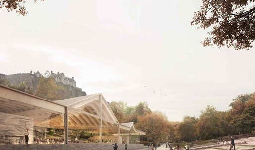 Reiulf Ramstad's proposal for a multivalent, inspirational Ross Pavilion in Edinburgh