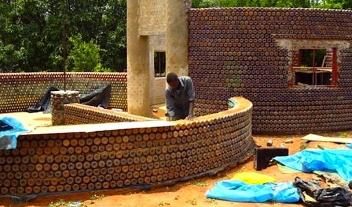 Africa's First Plastic Bottle House Rises in Nigeria