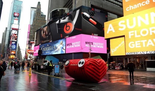 "Jam to your hearts desire with Stereotanks ""Heartbeat"" installation in Times Square"