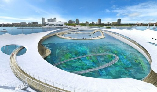 Michael Maltzan Sinks Underwater Reef Garden Idea for Revised St. Petersburg Pier Design