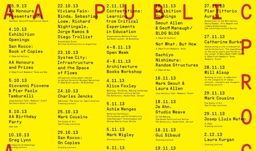 Get Lectured: AA School of Architecture Fall '13