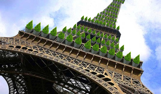 Ginger Group Unveils Plan to Transform the Eiffel Tower Into a Gigantic Tree