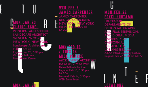 Get Lectured: University of Oregon, Winter 17