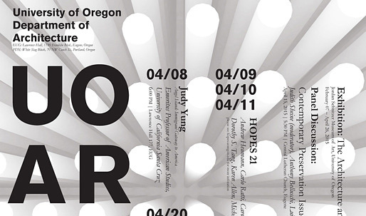 Get Lectured: University of Oregon, Spring '15