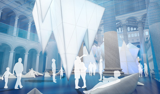 Cool off at James Corner's ICEBERGS at the National Building Museum this summer