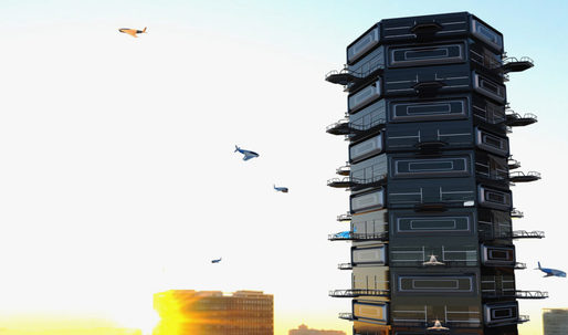 Designing for drones: a condo tower with drone-friendly balconies