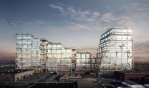 BIG proposes massive, gridded development for the LA Arts District