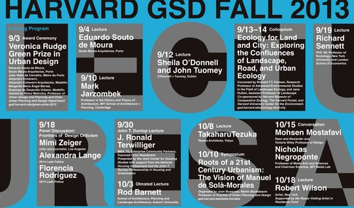 Get Lectured: Harvard GSD Fall 13