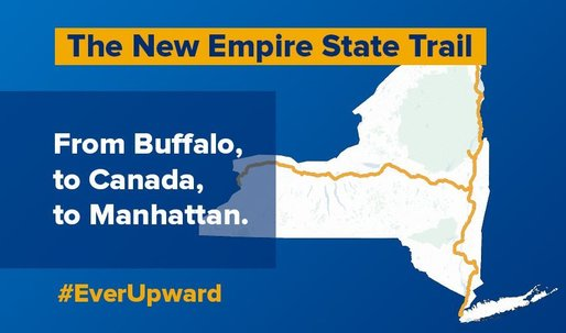 Cuomo announces 750-mile Empire State Trail, a continuous trail connecting NYC to Canada