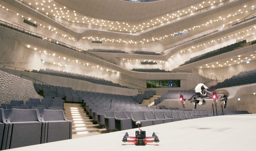 Take a flight through Herzog & de Meurons Elbphilharmonie, in classical or metal speed