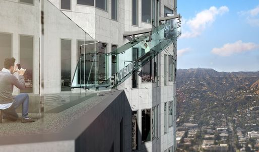 The West Coast's tallest tower is getting a glass-bottomed slide on its 69th floor
