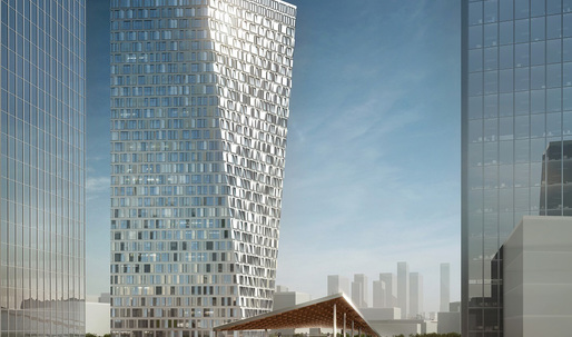 Aedas Wins Competition for Xuhui Binjan Media City 188S-G-1 Tower in Shanghai