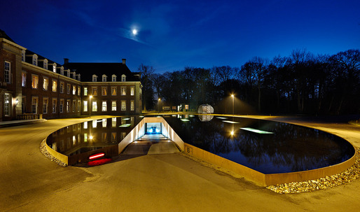 James Bond-style Pond and Parking Garage Entrance by HOSPER