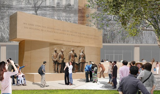 Gehrys modified Eisenhower Memorial design accepted by Eisenhower family