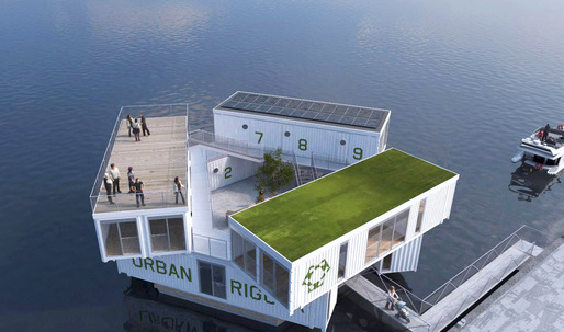 "Introducing Bjarke Ingels' floating student housing, ""Urban Rigger"""