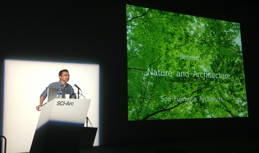Transparency rules at Sou Fujimoto's SCI-Arc lecture