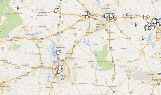 Mapping transgender-friendly bathrooms in hostile North Carolina
